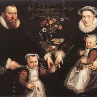 Portrait of Antonius Anselmus, His Wife and Their Children by Maarten de Vos