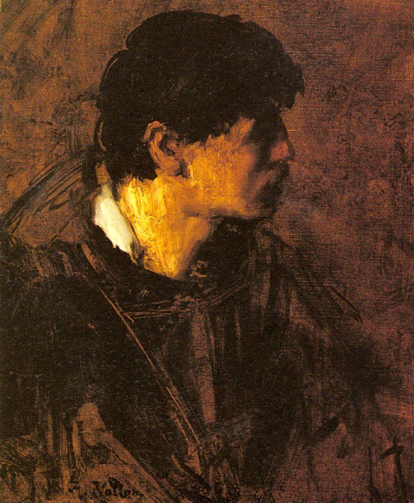 Portrait of a Man by Antoine Vollon