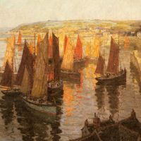 Red and Gold Brixham by Terrick Williams