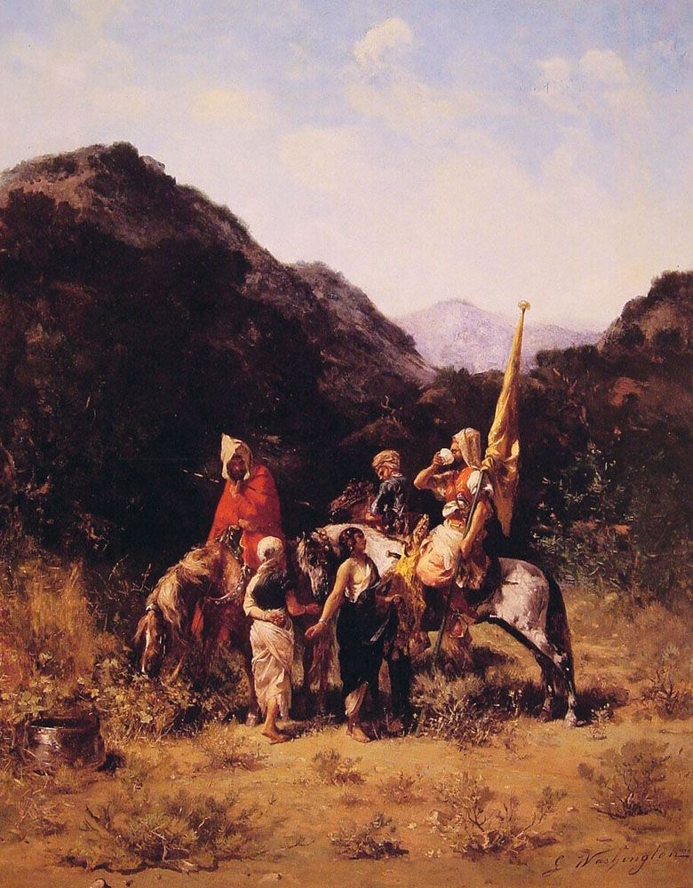 Riders in the Mountain by Georges Washington