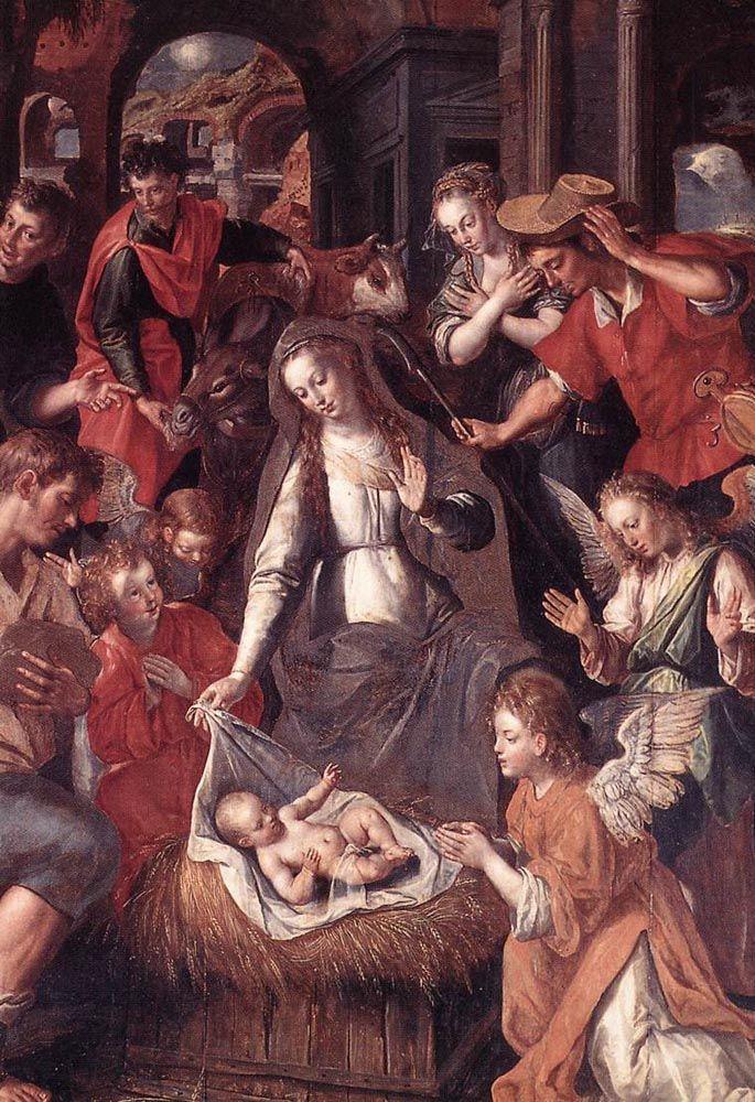 Scene from the Life of the Virgin by Maarten de Vos