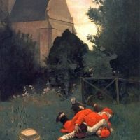 Scramble for the Lunch by Jehan Georges Vibert