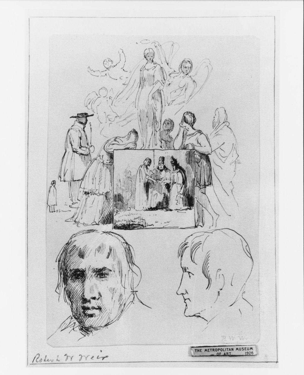 Sketches from McGuire Scrapbook by Robert Walter Weir