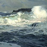 Southwesterly Gale, St. Ives by Frederick Judd Waugh