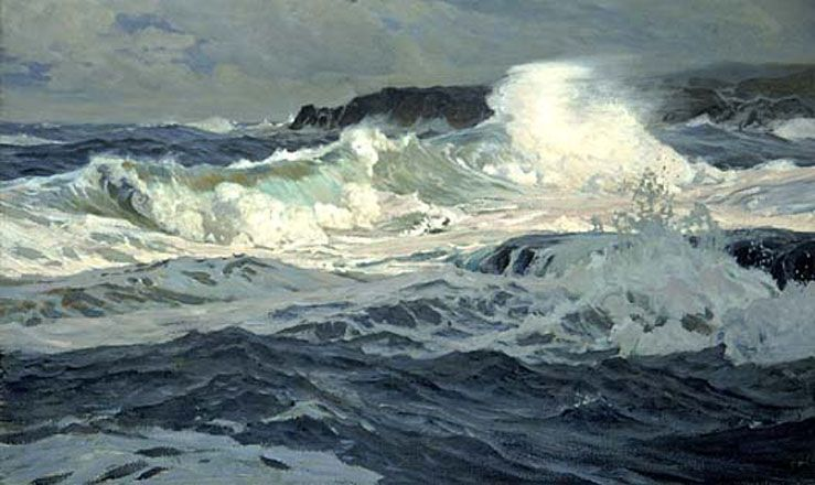 Southwesterly Gale St Ives by Frederick Judd Waugh