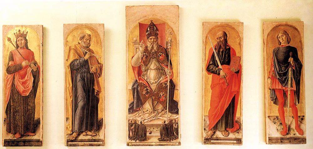 St Ambrose Polyptych by Bartolomeo Vivarini