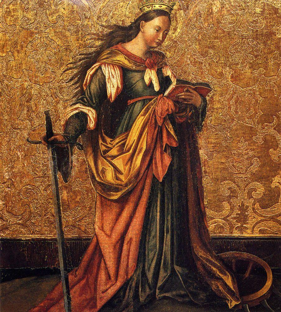 St  Catherine Of Alexandria by Konrad Witz