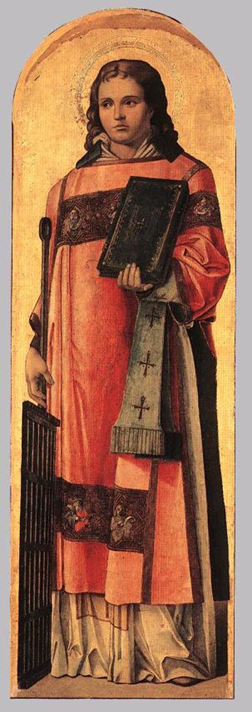 St Lawrence the Martyr by Bartolomeo Vivarini