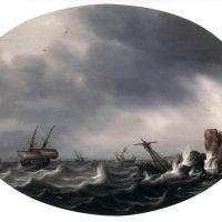 Stormy Sea by Simon de Vlieger