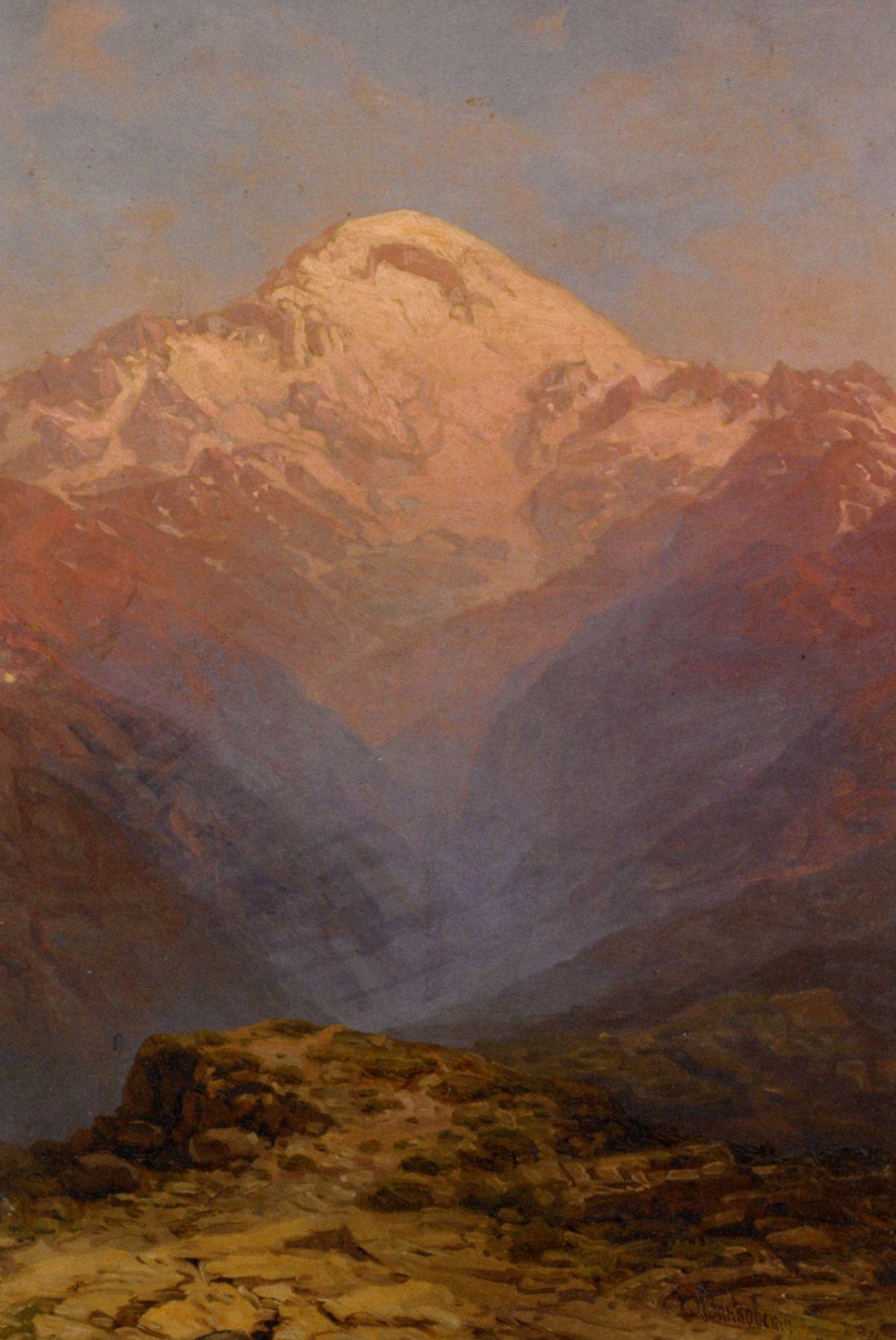 Sunset in the Mountains by Ilya Nikolaevich Zankovsky