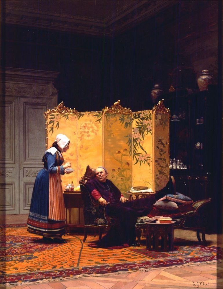 Tea for the Bishop by Jehan Georges Vibert