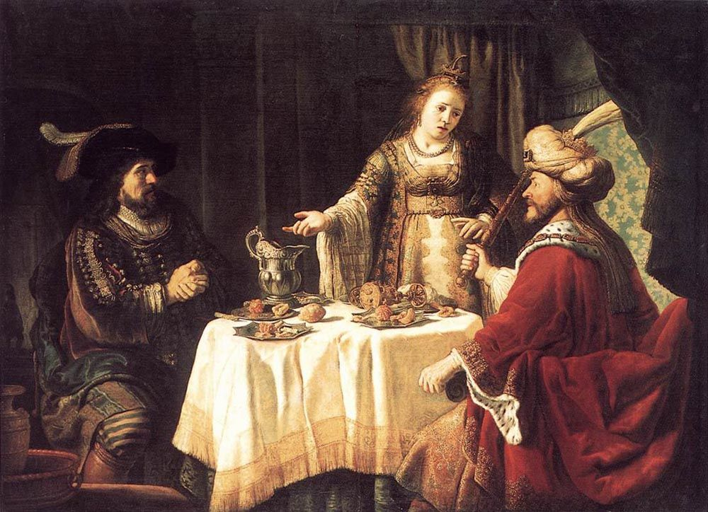 The Banquet of Esther and Ahasuerus by Jan Victors