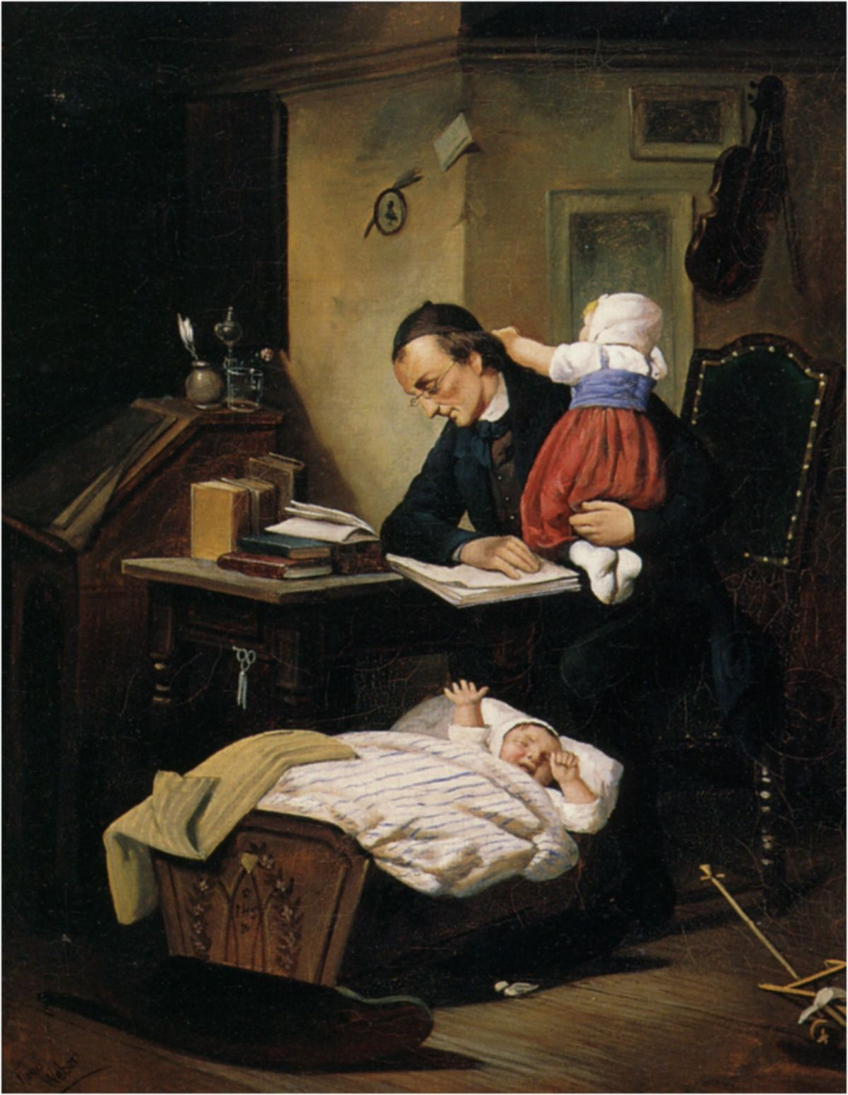 The Busy Father by Theodor Alexander Weber