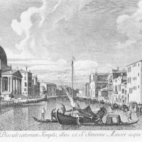 The Canal Grande with San Simeone Piccolo and the Scalzi by Antonio Visentini
