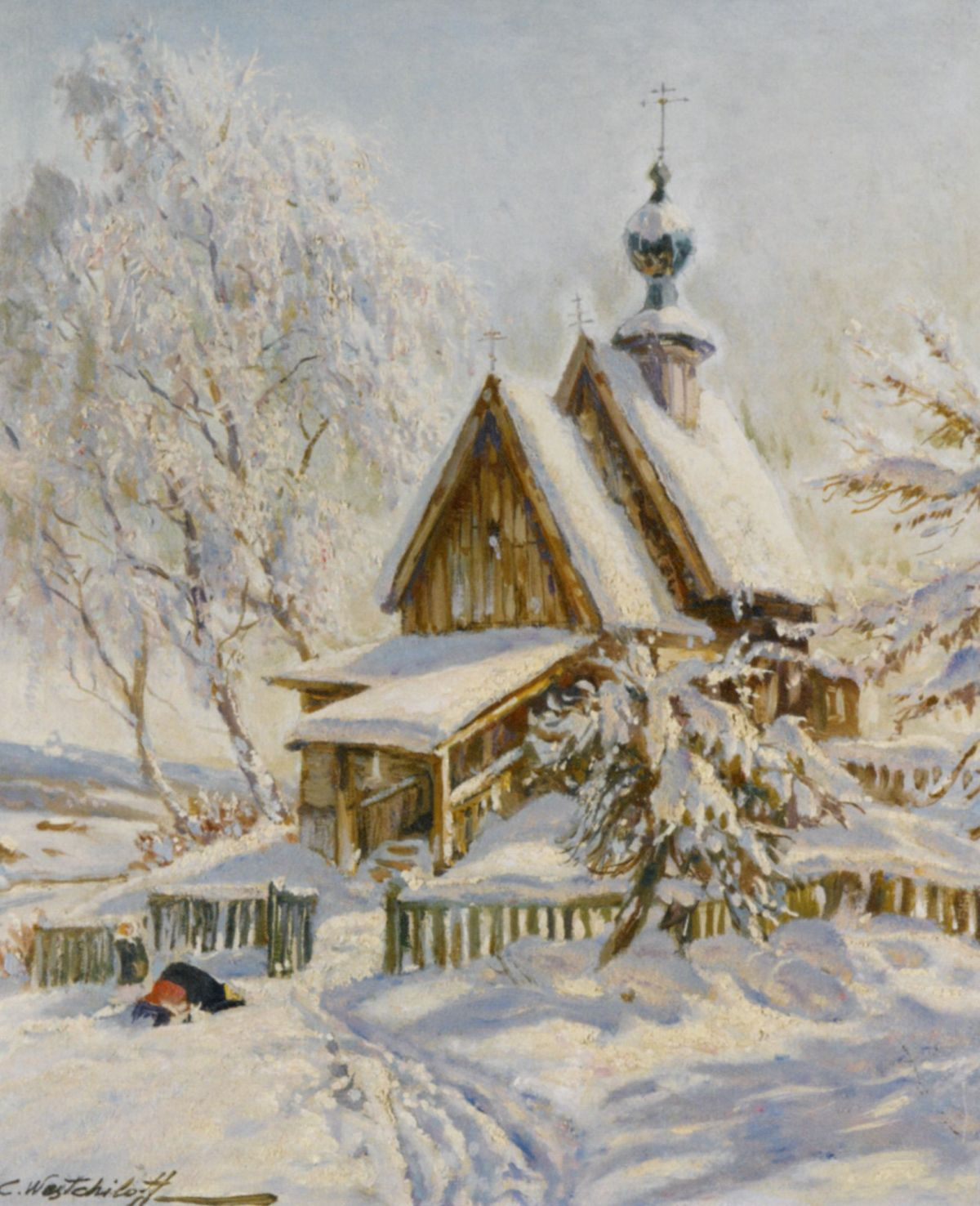 The Church by Konstantin Alexandrovich Westchilov