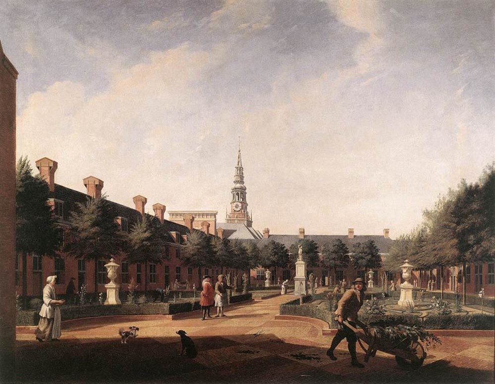 The Courtyard of the Proveniershof by Vincent Laurentsz van der Vinne II