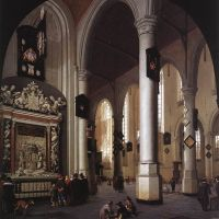 The Old Church at Delft with the Tomb of Admiral Tromp by Hendrick van Vliet