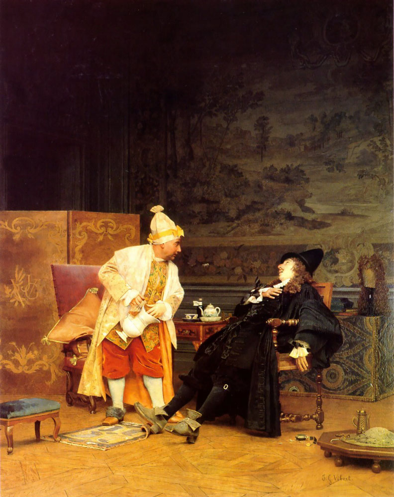 The Sick Doctor by Jehan Georges Vibert