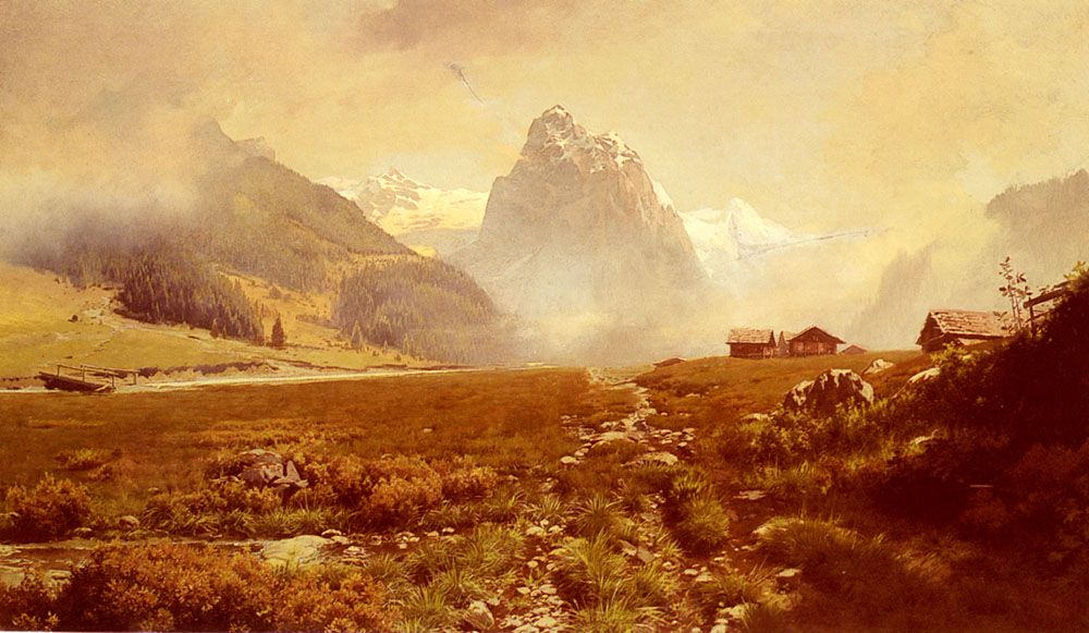 The Swiss Alps by Frederick Judd Waugh