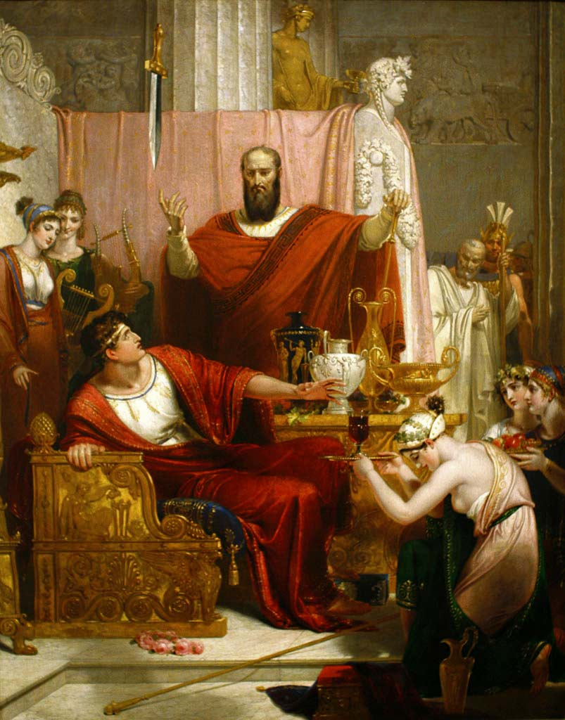 The Sword of Damocles by Richard Westall