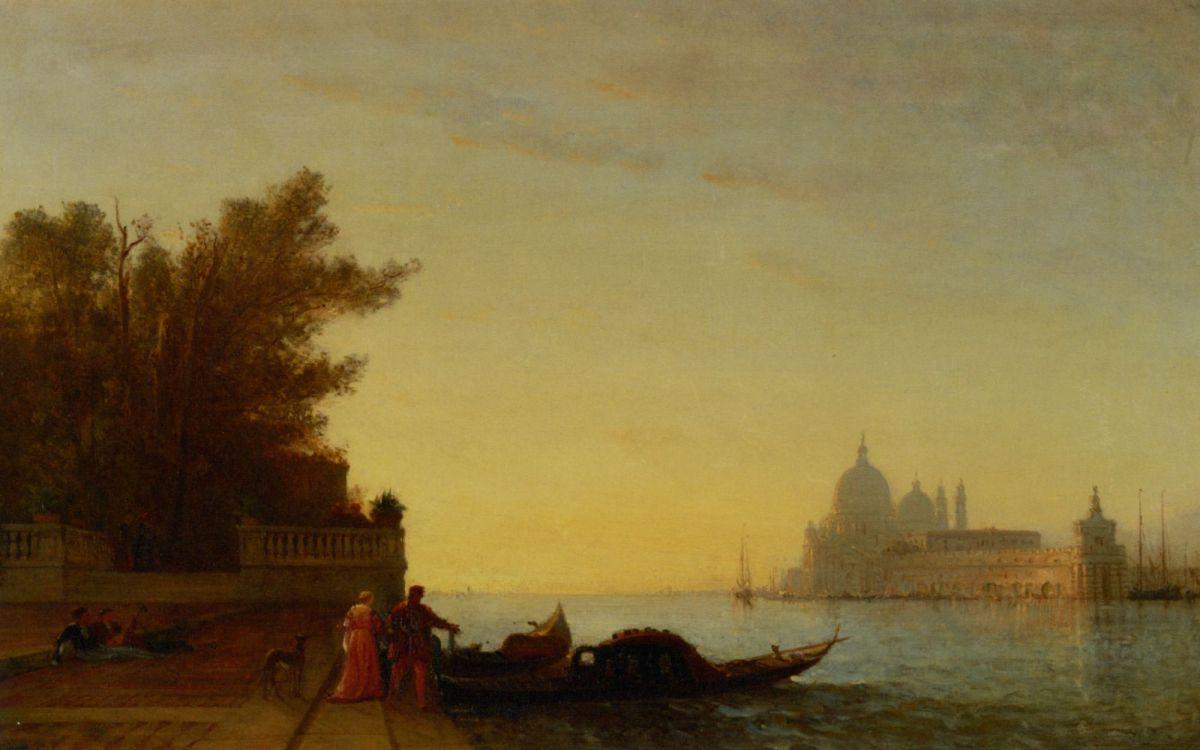 Venetian Scene by Felix Francois Martigues Zeim