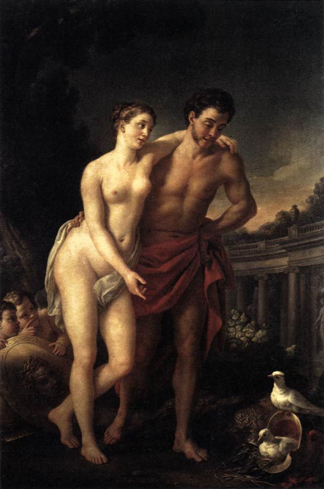 Venus Showing Mars her Doves Making a Nest in his Helmet by Joseph-Marie Vien