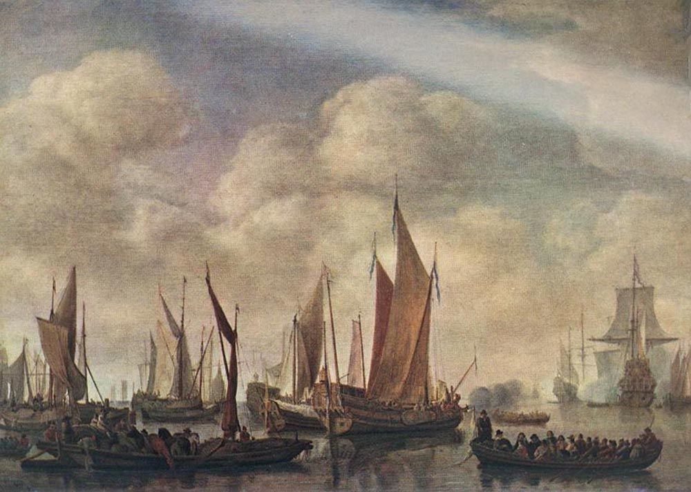 Visit of Frederick Hendriks II to Dordrecht in 1646 by Simon de Vlieger