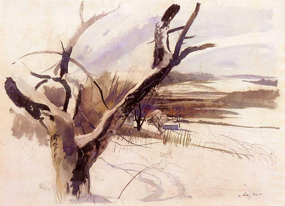 Winter Farm Scene by Andrew Wyeth