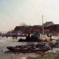 Winterfun On De Loswal, Hattem by Cornelis Vreedenburgh