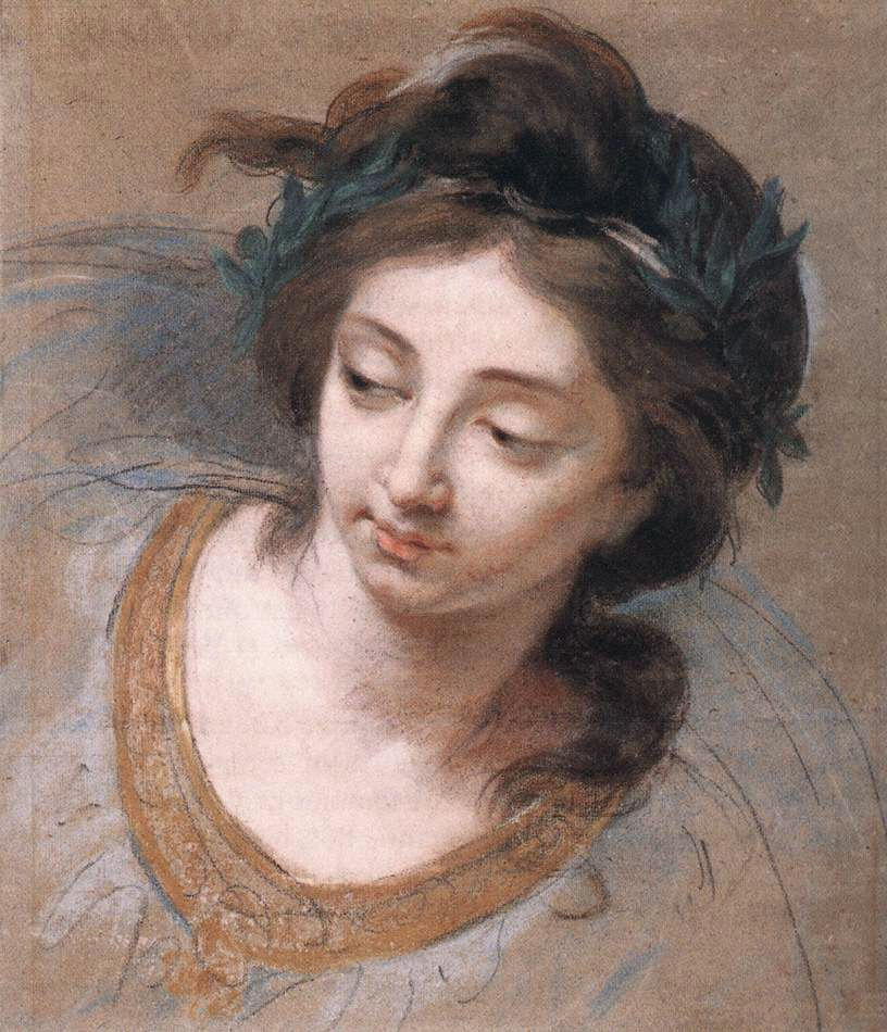 Womans Head by Elisabeth Louise Vigee Le Brun