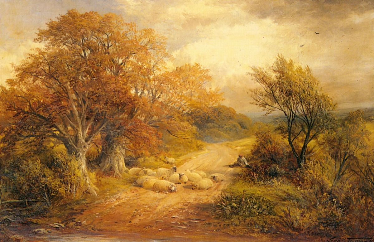 A Derbyshire Water Lane by George Turner