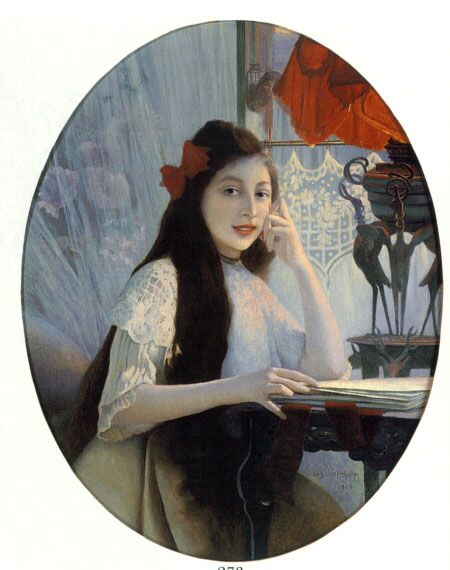 A Portrait of a Young Girl by Jules Verdier