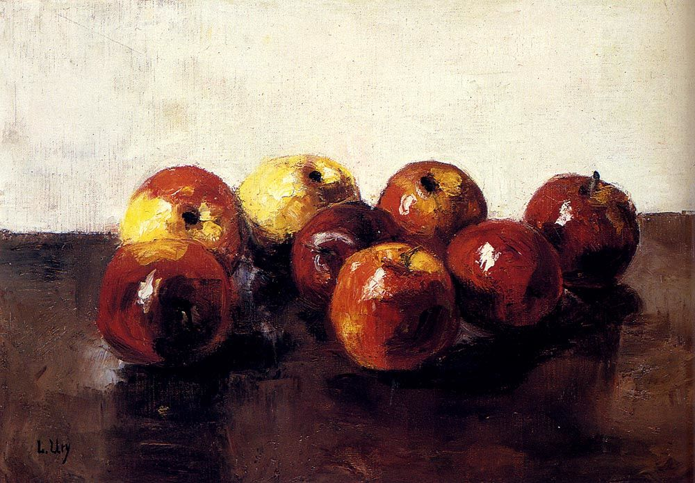 A Still Life Of Apples by Lessur Ury