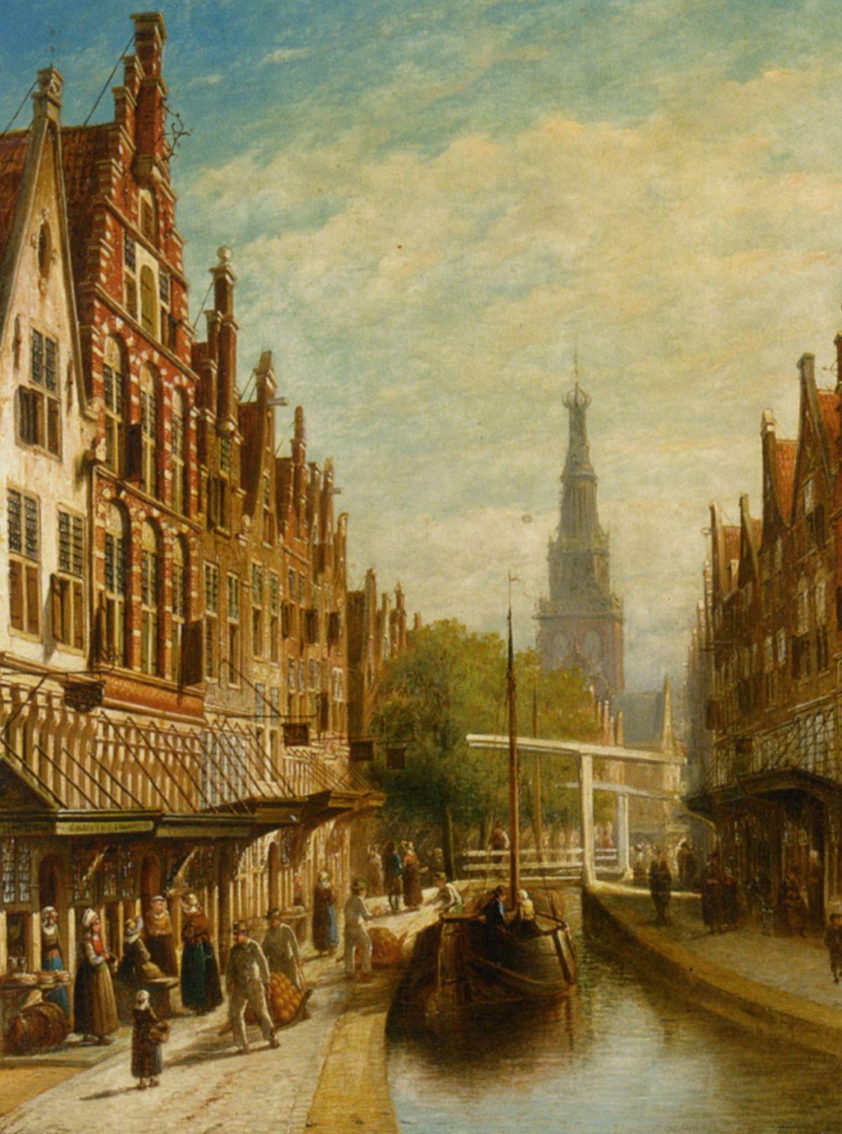 A View of Alkmaar by Pieter Gerard Vertin