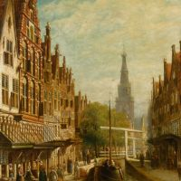 A View of Alkmaar by Pieter Gerard Vertin