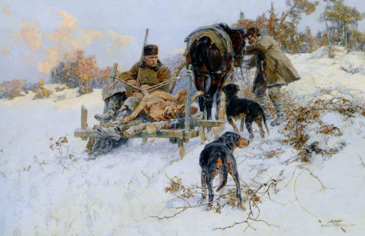 After the hunt by Jaroslav Fr Julius Vesin