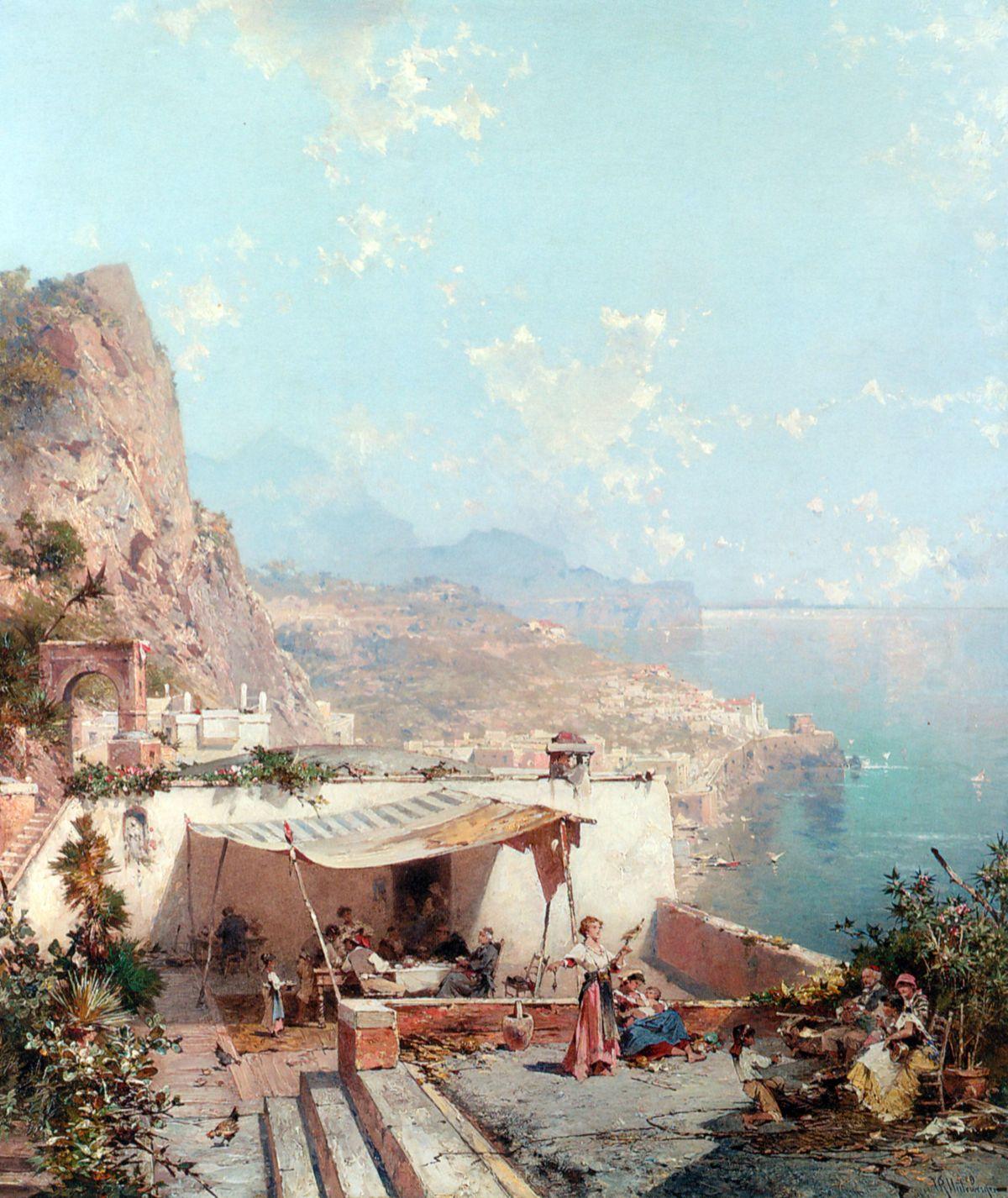 Amalfi Golfe de Salerne by Franz Richard Unterberger