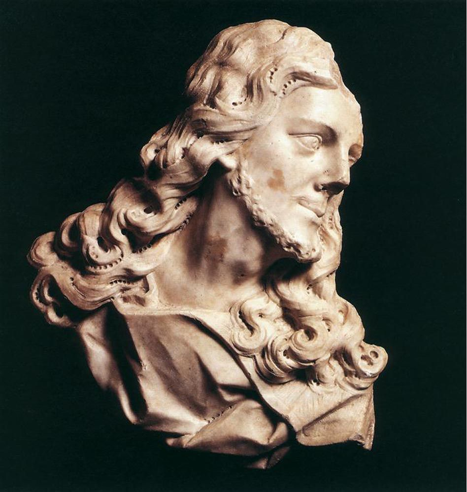 Bust of Christ by Christophe Veyrier
