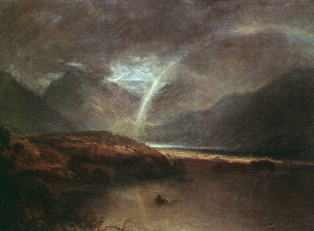 Buttermere Lake A Shower by Joseph Mallord William Turner