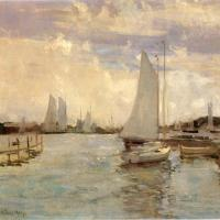 Gloucester Harbor by John Twachtman