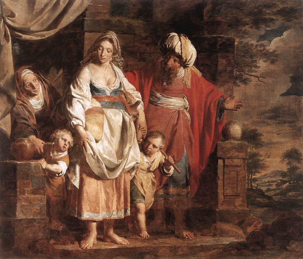 Hagar and Ishmael Banished by Abraham by Pieter Jozef Verhaghen