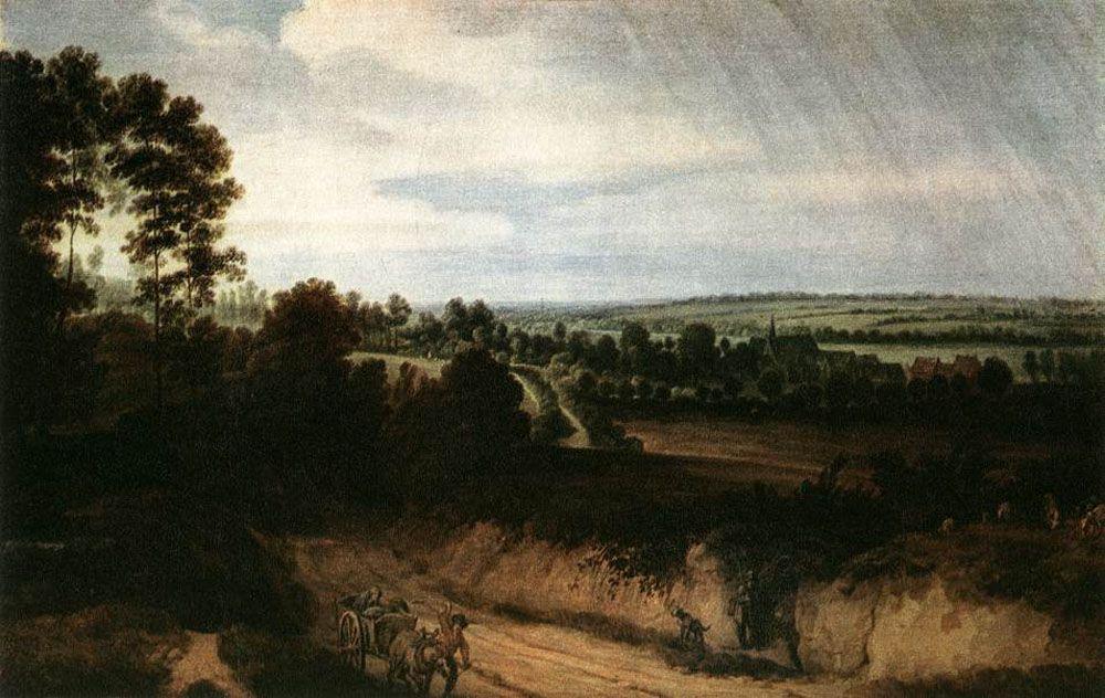 Landscape before the Rain by Lodewijk de Vadder