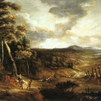 Landscape with the Flight into Egypt by Lucas Van Uden