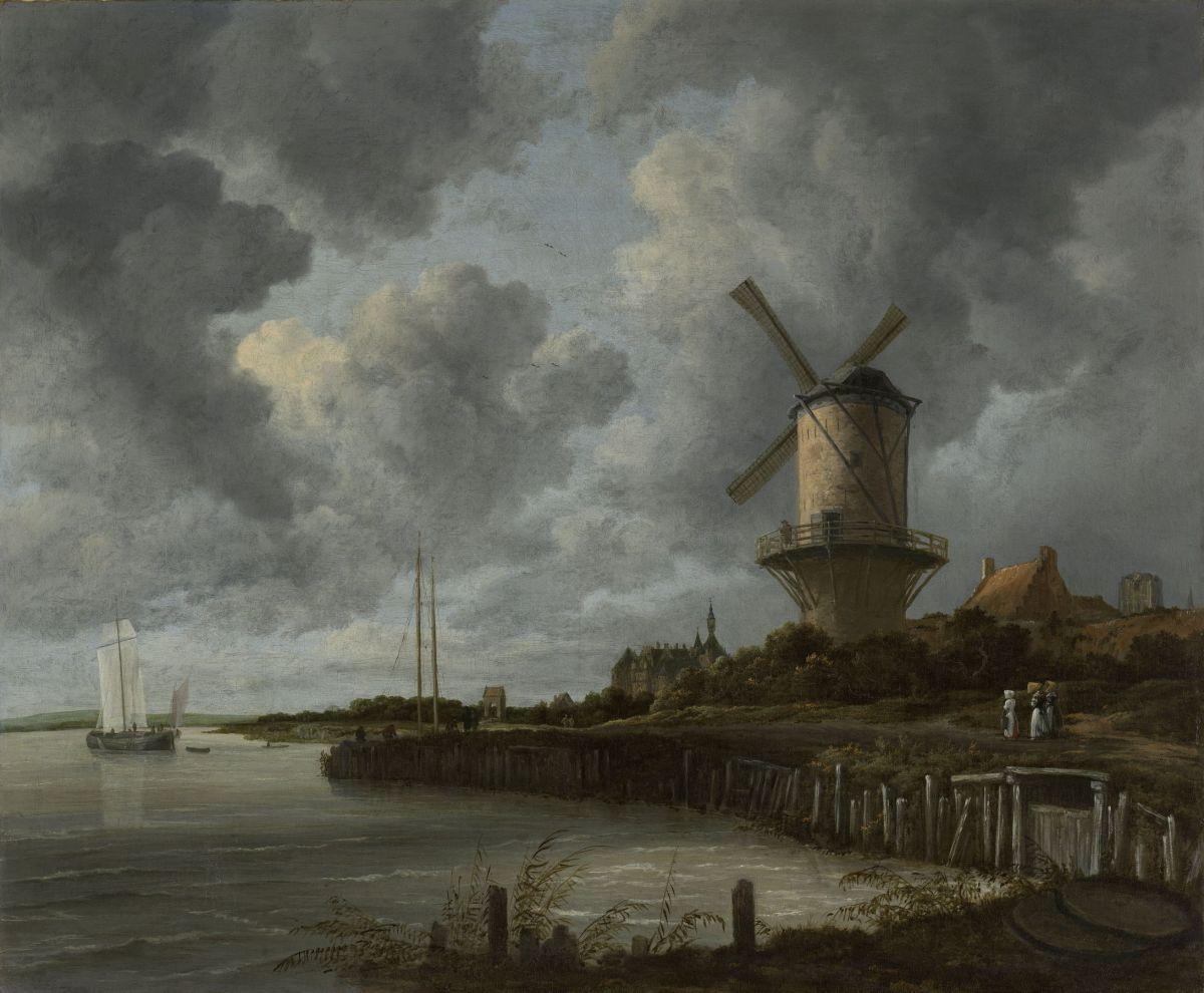 Mill at Wijk near Duursteede by Jacob van Ruisdael