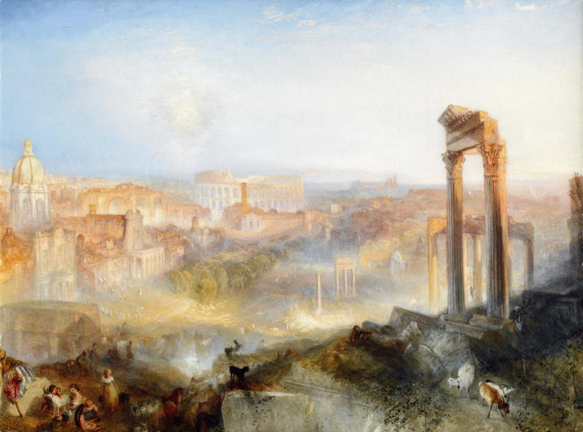 Modern Rome Campo Vaccino by Joseph Mallord William Turner