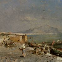 On The Waterfront at Palermo by Franz Richard Unterberger