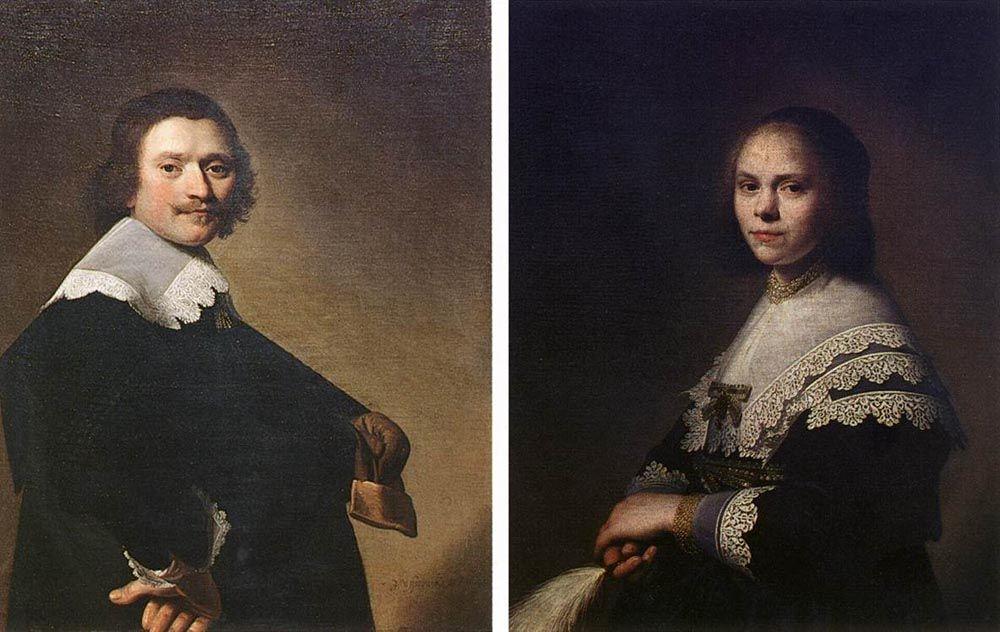 Portrait of a Man and Portrait of a Woman by Johannes Cornelisz Verspronck