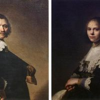 Portrait of a Man and Portrait of a Woman by Johannes Cornelisz. Verspronck