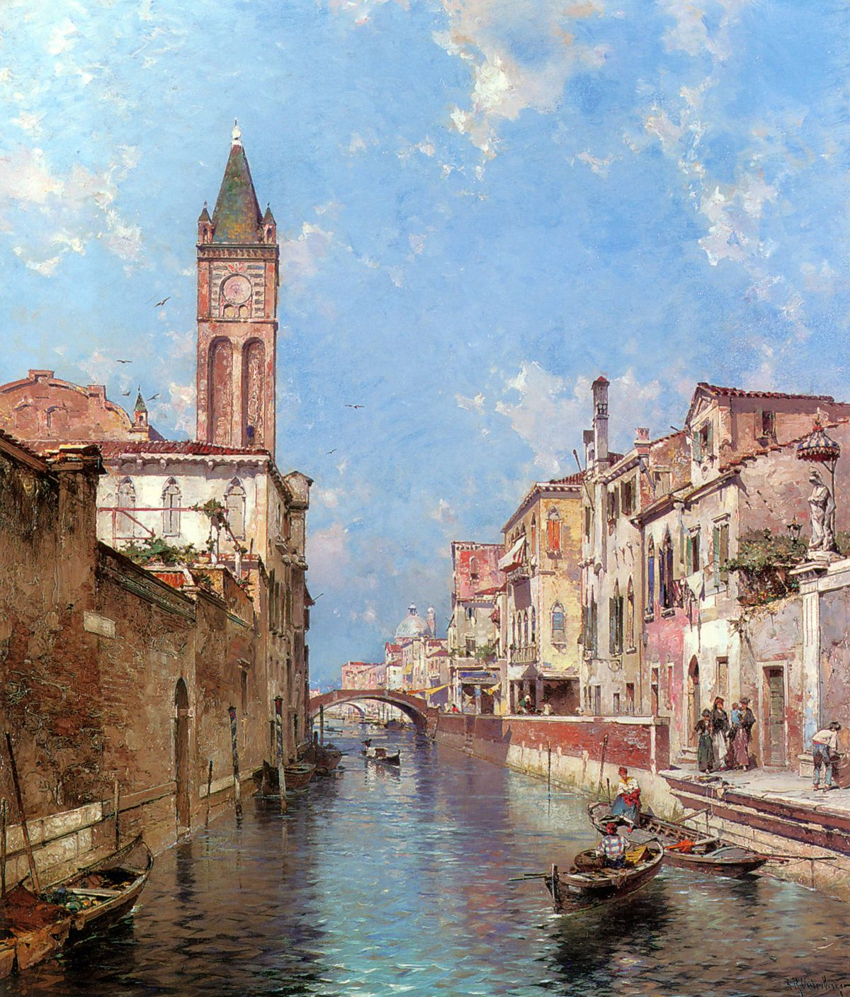Rio St Barnaba, Venice by Franz Richard Unterberger