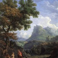 Shepherd in the Alps by Claude-Joseph Vernet